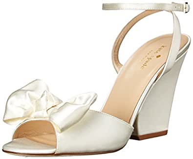 kate spade new york Women's Iberis Dress Sandal, Ivory, 10 M US