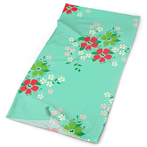 Headbands Apple-blossoms-mint-green_1955 Elastic Seamless Bandana Versatile Sports & Casual Headwear 9.819.7inch ()