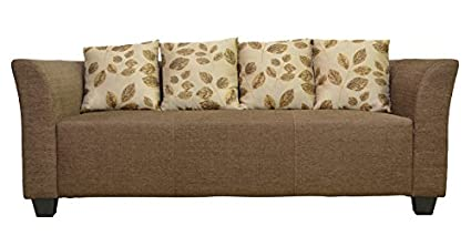 Hometown Laurel Three Seater Sofa Brown Amazon In Home Kitchen