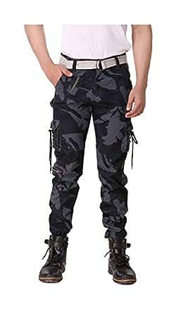 Grok Blue Camouflage Men's Cargo pant