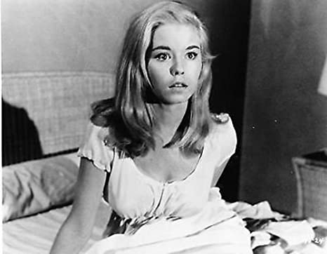 A close up view of Jill Haworth/'s face 8x10 photo