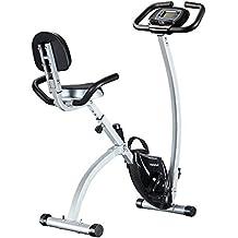 FEIERDUN Folding Stationary Exercise Bike, Adjustable foldable Upright Magnetic Stationary excersize bicycle
