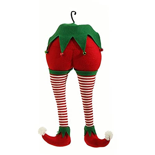 raz imports peppermint toy 20 christmas elf christmas red and white stripes tree ornament
