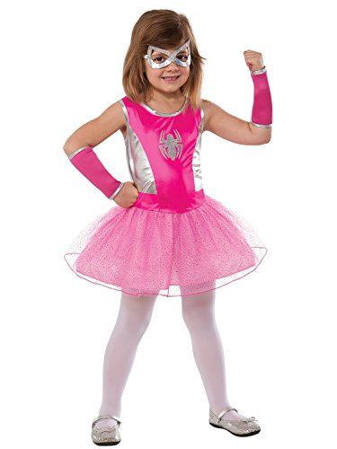 Rubie's Marvel Classic Child's Pink Spider-Girl Costume, -