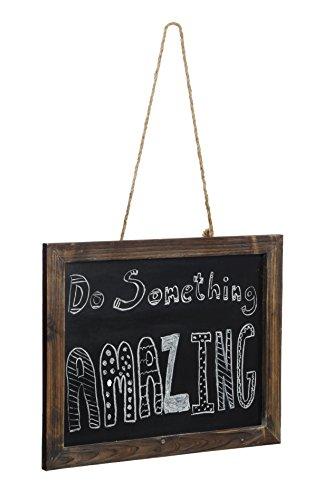 Dwellbee Rustic Hanging Chalkboard Sign (Pine Wood)