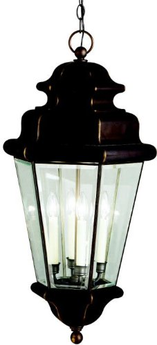 nah Estates Outdoor Pendant 4-Light, Olde Bronze ()