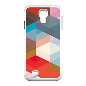 3D Okaycosama Funny Samsung Galaxy S4 Case Colorful 129 Protective Cute for Girls, Phone Case for Samsung Galaxy S4 Mini, [White]