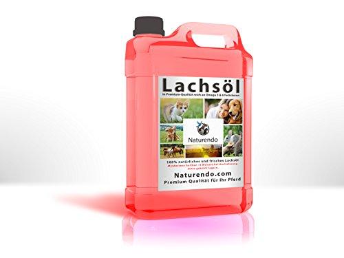 Naturendo Pferde 5l Lachsöl frisches Lachs Öl ein gesundes Fischöl mit Omega 3 & 6 Fettsäuren