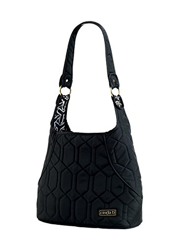 cinda b Mini Hobo, Noir, One Size