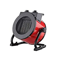 MAZHONG Space Heaters 2KW Space Heater Industrial Workshop Garage Tilt Stainless Steel Overheat Protection Adjustable Thermostat Control