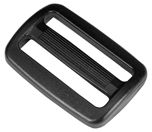 (1.5 inch Black Plastic Tri-glide Slide - 10 pieces - from Strapworks)