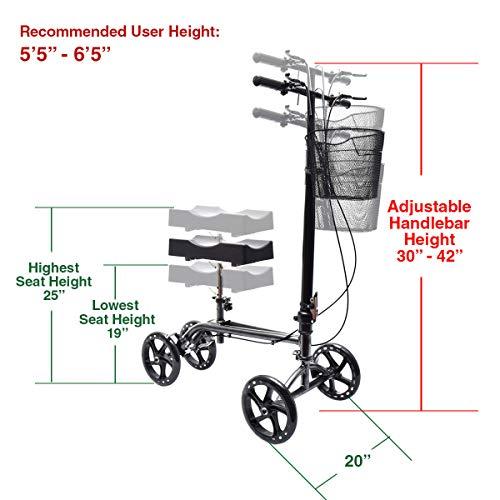 Clevr Foldable Knee Walker Scooter
