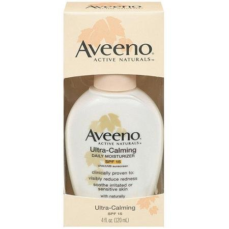 Aveeno Active Naturals Ultra-Calming Daily Moisturizer SPF 15, 4 Ounce ( Quantity Of 3 ) by Unknown