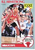 BJ Armstrong basketball card (Chicago Bulls) 1990 Hoops #60 Rookie