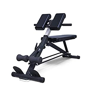 EAHKGmh Adjustable Ab Bench Multi-Workout Sit Up Bench Hyper Back Extension Abdominal Weight Bench With Flat/Decline/Sit Up For Commercial And Home Use