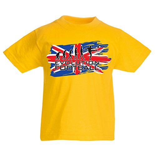 Skate Cup World (lepni.me Kids Boys/Girls T-Shirt Evolution Football - Russia Championship 2018, World Cup Soccer Team Fan Shirt (1-2 Years Yellow Multi Color))