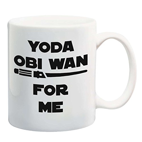 Funny 11oz Coffee or Tea Mugs - YODA OBI WAN For Me by Eitly (White) -Great...