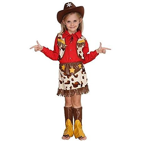 fbeebd871 Halloween Costume Kids Cosplay Costumes cmGirls, Little Western Cowboy  Sheriff'S Wear,9-10 size (130Cm): Amazon.co.uk: Kitchen & Home