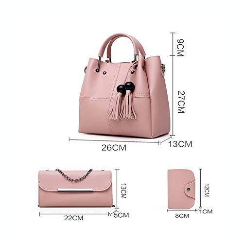 Grey Bag Tote 3 Pu Borse Tracolla Moda Pelle Borsetta A Donna Pezzi Borse LUCKYCCDD Grey Borsa In fqwvUpazc