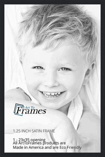 Amazoncom Arttoframes 23x35 Inch Satin Black Picture Frame