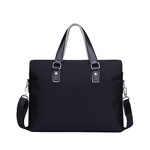 Casual Diagonal Men's Section Business Oxford Cross Shoulder Handbag Package Briefcase Canvas Black Bag YvrqY