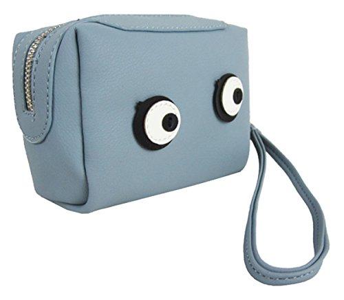 Kukubird Moneda Versátiles Variaciones Lindo Pienso Emoji Bus Tv Cassette Colorido Monedero Embrague Eyes Blue