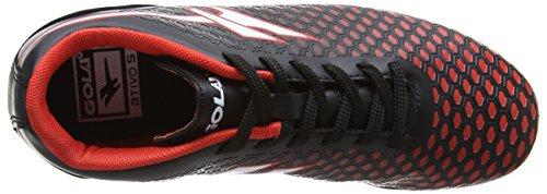 Gola Ion Vx, Zapatillas de Fútbol Niños Negro (Black/red)