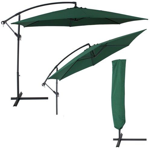 TecTake-Sonnenschirm-Ampelschirm-mit-Aluminiumgestell-UV-Schutz-350cm-grn-Schutzhlle
