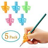 Pencil Grips - 5 Pack Pencil Grips for Kids Handwriting, Ergonomic Writing Training Aid Correction Silicon Gel Pencil Grip for Children Preschoolers (Five)