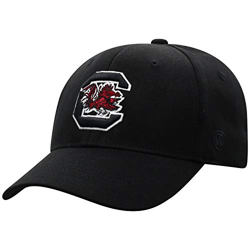 Top of the World South Carolina Fighting Gamecocks Men's Memory Fit Hat Icon, Black, One Fit