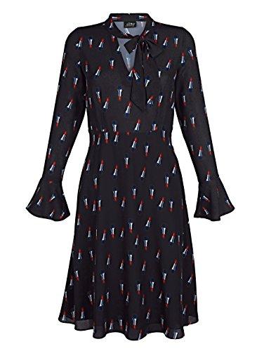 Gr Bedruckt Marken AV 0118113563 Schluppe 44 Kleid Schwarz mit Gr 42 qAwaR8wp