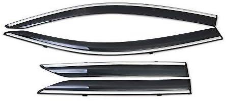 Mmhot 4 Pezzi Vento Deflettori Set Anteriore Posteriore Deflettori ABS Porta Laterale della Visiera Pioggia Shields Guard for Toy-OTA C-HR 2016 2017 2018