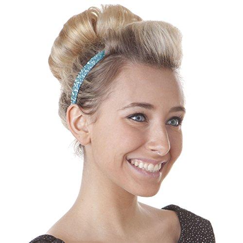 Hipsy Women's Bling Glitter Adjustable No Slip Headband Bulk Gift 10pk (Skinny Pastel 10pk)