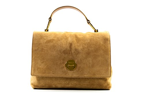 Coccinelle Liya Suede handbag leither chamois light brown