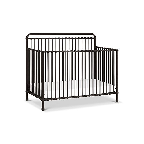 Million Dollar Baby Classic Winston 4-in-1 Convertible Iron Crib,  Vintage (1 Iron Convertible Crib)