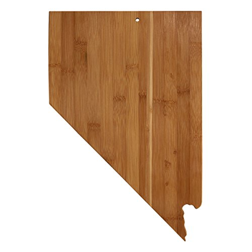 Totally Bamboo Nevada State Shaped Bamboo Serving and Cutting Board