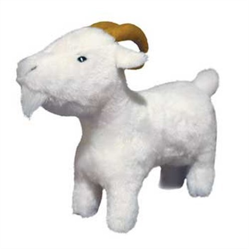VIP Products Mighty Grady Goat Farm Dog Toy, White, My Pet Supplies