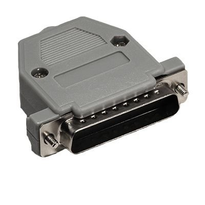 Ecore Cables DB25 Male Crimp Connector Kit - Plastic (Db25 Hood)