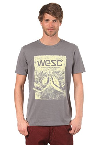 (WESC Icon Hands Men`s S/S Tshirt, Castlerock, Large)