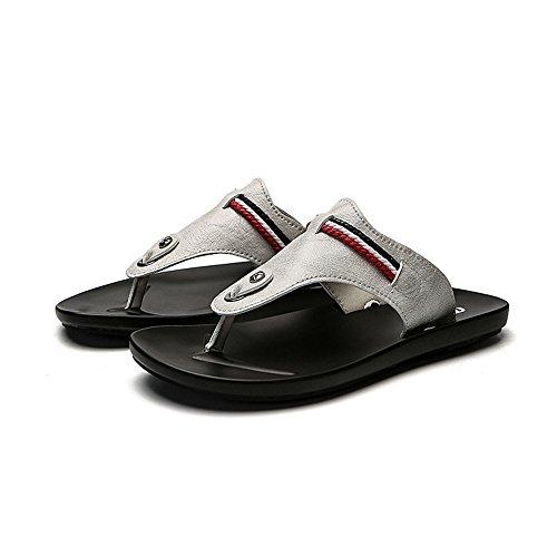Zapatos Negro 3 39 Cuero Respirables Blanco De Verano Ocasionales Wangcui Eu flops color 1 Flip Del Los Tamaño dwqx4d1F