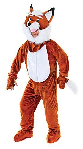 Big Head Animal Costume Uk (Adults Mr Fox Big Head Costume)