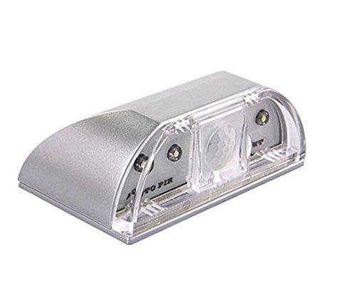 Tasnme 4 LED luz Sensor PIR para cerradura LED lámpara de puertas Detector de movimiento inalámbrico