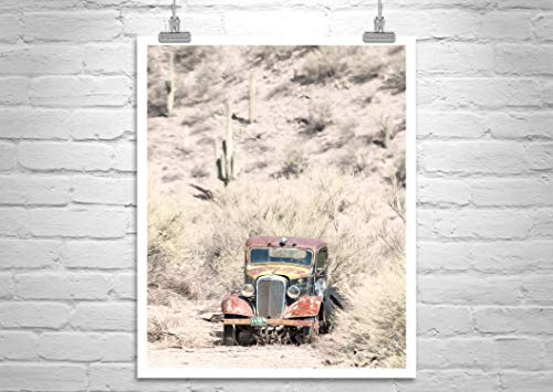 Old Rusty Truck Picture, Antique Truck Art Print, Desert Theme