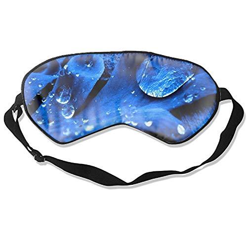 Good Night Sleep Mask - Flower Blue Waterfall Closeup Eye Cover, Soft & Comfortable Blindfold for Total Blackout & Light Blocking