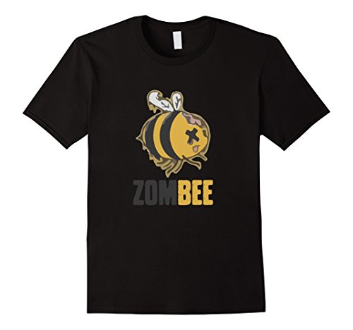 Zom-bee Costume (Mens Zom Bee T-Shirt Funny Zombie Bee Halloween Lazy Costume Tee Large Black)