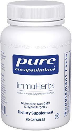 Pure Encapsulations – ImmuHerbs – Hypoallergenic Herbal Immune Support Combination* – 60 Capsules