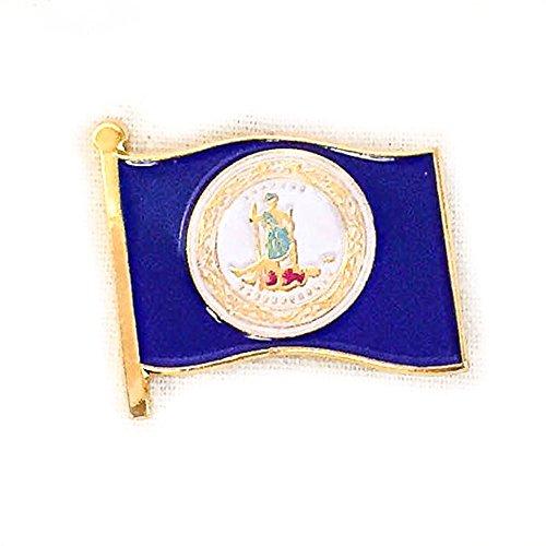 Virginia Flag Lapel Pin - 9
