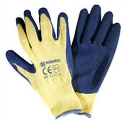 BARGAINS-GALORE® 12 X PAIRS BUILDERS LATEX RUBBER WORK GLOVES BLUE SIZE 10/X LARGE GARDENING DIY GARDEN PROTECTIVE NEW MARKSMAN