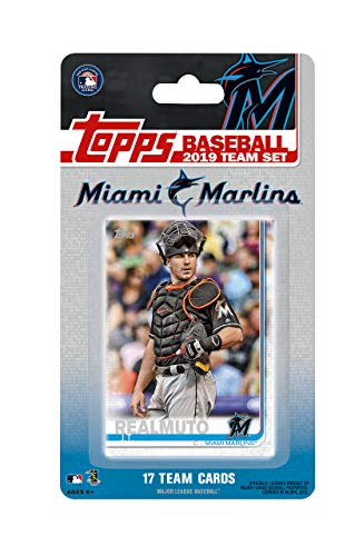 Miami Marlins 2019 Topps Factory Sealed Special Edition 17 Card Team Set with Starlin Castro and Brian Anderson ()