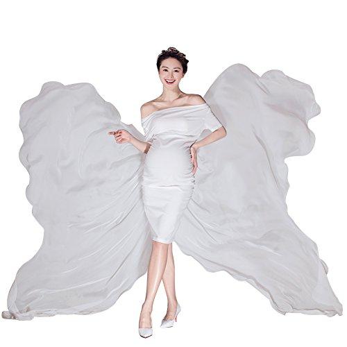計算する媒染剤花婿妊娠中 ドレス ワンピース 女性 写真服 マタニティ 写真撮影 小道具 白 コットン 快適